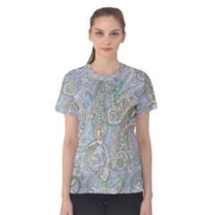 Paisley Boho Hippie Retro Fashion Print Pattern  Women s Cotton Tee