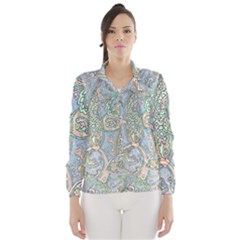 Paisley Boho Hippie Retro Fashion Print Pattern  Wind Breaker (Women)
