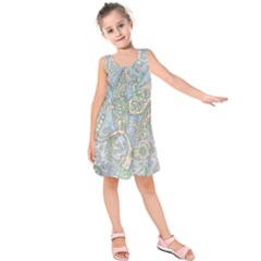 Paisley Boho Hippie Retro Fashion Print Pattern  Kids  Sleeveless Dress