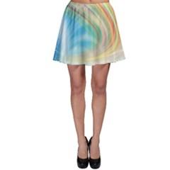 Glow Motion Lines Light Skater Skirt