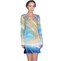 Glow Motion Lines Light Long Sleeve Nightdress