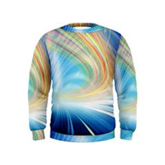 Glow Motion Lines Light Kids  Sweatshirt