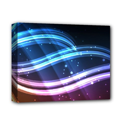 Illustrations Color Purple Blue Circle Space Deluxe Canvas 14  X 11