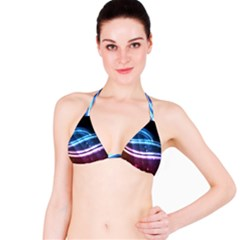 Illustrations Color Purple Blue Circle Space Bikini Top