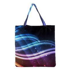 Illustrations Color Purple Blue Circle Space Grocery Tote Bag