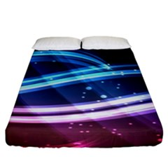 Illustrations Color Purple Blue Circle Space Fitted Sheet (king Size)
