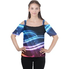 Illustrations Color Purple Blue Circle Space Women s Cutout Shoulder Tee