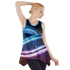 Illustrations Color Purple Blue Circle Space Side Drop Tank Tunic