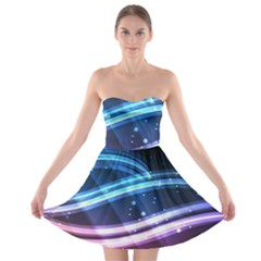 Illustrations Color Purple Blue Circle Space Strapless Bra Top Dress