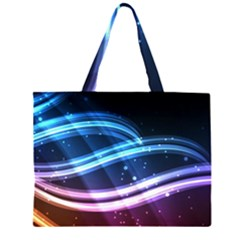 Illustrations Color Purple Blue Circle Space Large Tote Bag