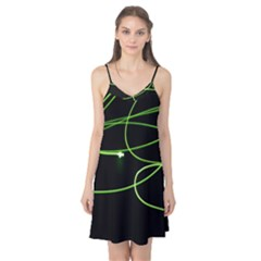 Light Line Green Black Camis Nightgown