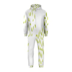Leaves Leaf Green Fly Landing Hooded Jumpsuit (Kids)