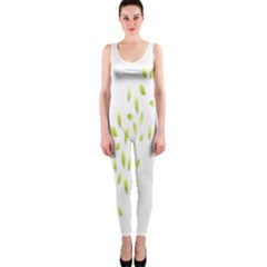 Leaves Leaf Green Fly Landing Onepiece Catsuit