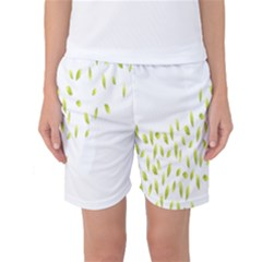 Leaves Leaf Green Fly Landing Women s Basketball Shorts