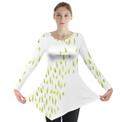 Leaves Leaf Green Fly Landing Long Sleeve Tunic