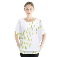 Leaves Leaf Green Fly Landing Blouse