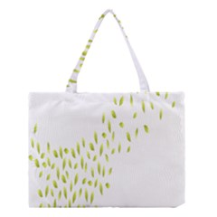Leaves Leaf Green Fly Landing Medium Tote Bag