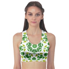 Leaf Green Frame Star Sports Bra