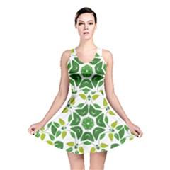 Leaf Green Frame Star Reversible Skater Dress