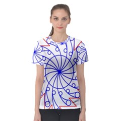 Line  Red Blue Circle Women s Sport Mesh Tee