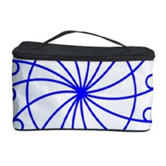 Line  Red Blue Circle Cosmetic Storage Case