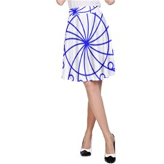 Line  Red Blue Circle A-Line Skirt