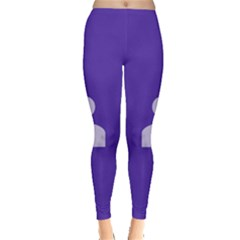 Man Grey Purple Sign Leggings