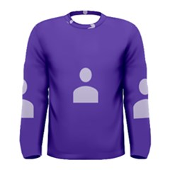Man Grey Purple Sign Men s Long Sleeve Tee