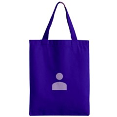 Man Grey Purple Sign Zipper Classic Tote Bag