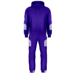 Man Grey Purple Sign Hooded Jumpsuit (Men)