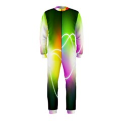 Lines Wavy Ight Color Rainbow Colorful OnePiece Jumpsuit (Kids)