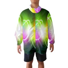Lines Wavy Ight Color Rainbow Colorful Wind Breaker (Kids)