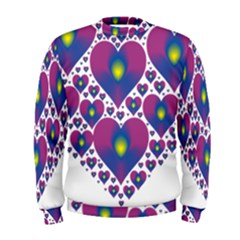 Heart Love Valentine Purple Gold Men s Sweatshirt
