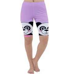 Panda Happy Birthday Pink Face Smile Animals Flower Purple Green Cropped Leggings