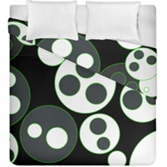 Origami Leaf Sea Dragon Circle Line Green Grey Black Duvet Cover Double Side (king Size)