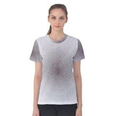 Physical Chemistry Circle Red Grey Women s Cotton Tee