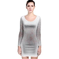 Physical Chemistry Circle Red Grey Long Sleeve Bodycon Dress