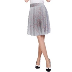 Physical Chemistry Circle Red Grey A-Line Skirt