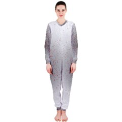 Physical Chemistry Circle Red Grey OnePiece Jumpsuit (Ladies)