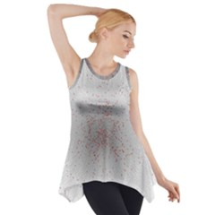 Physical Chemistry Circle Red Grey Side Drop Tank Tunic