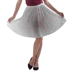 Physical Chemistry Circle Red Grey A-line Skater Skirt