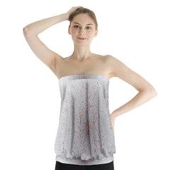 Physical Chemistry Circle Red Grey Strapless Top
