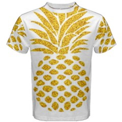Pineapple Glitter Gold Yellow Fruit Men s Cotton Tee