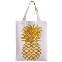 Pineapple Glitter Gold Yellow Fruit Classic Tote Bag