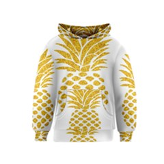 Pineapple Glitter Gold Yellow Fruit Kids  Pullover Hoodie