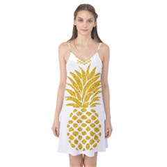 Pineapple Glitter Gold Yellow Fruit Camis Nightgown