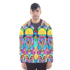 Arcturian Metamorphosis Grid   Hooded Wind Breaker (men)