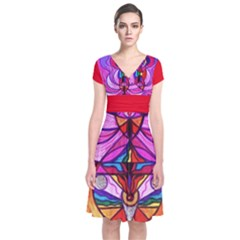 Devine Feminine Activation - Short Sleeve Front Wrap Dress