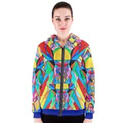 Arcturian Metamorphosis Grid - Women s Zipper Hoodie