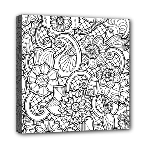 These Flowers Need Colour! Mini Canvas 8  x 8
